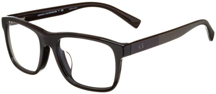 prescription-glasses-model-Armani-Exchange-AX3025F-Brown-45