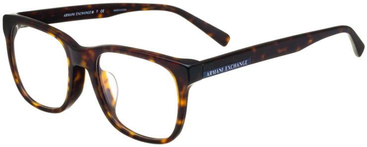 prescription-glasses-model-Armani-Exchange-AX3056F-Matte-Tortoise-45