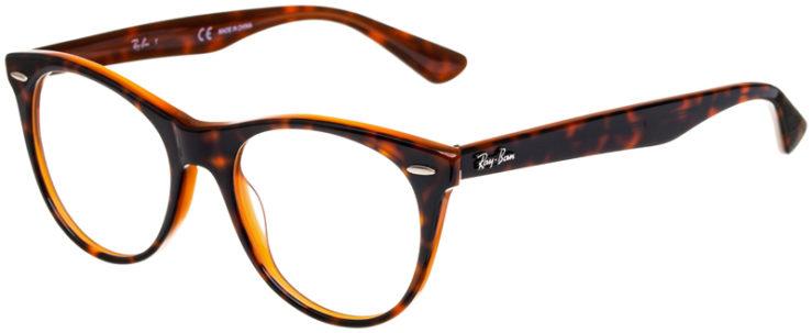 prescription-glasses-model-Ray-Ban-RB2185V-Tortoiste-Brown-45
