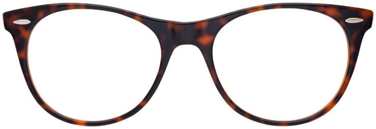 prescription-glasses-model-Ray-Ban-RB2185V-Tortoiste-Brown-FRONT