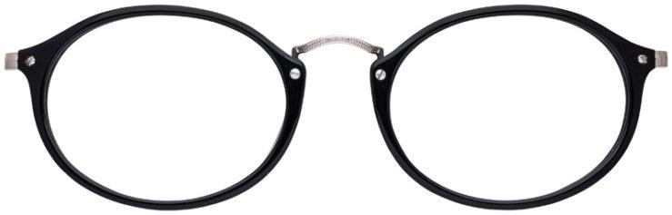 prescription-glasses-model-Ray-Ban-RB2547V-Black-FRONT