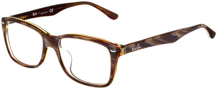 prescription-glasses-model-Ray-Ban-RB5228F-Striped-Brown-45
