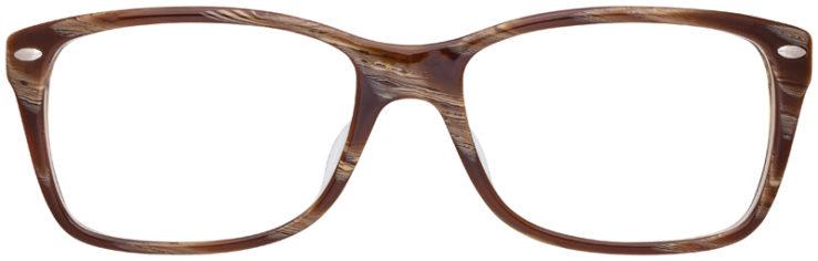 prescription-glasses-model-Ray-Ban-RB5228F-Striped-Brown-FRONT