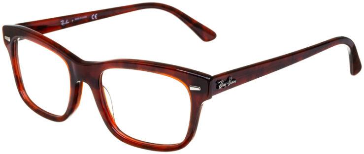 prescription-glasses-model-Ray-Ban-RB5383-Red-Havana-45