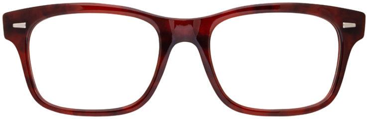 prescription-glasses-model-Ray-Ban-RB5383-Red-Havana-FRONT