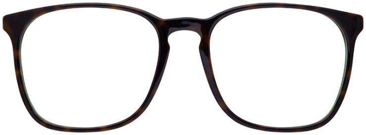 prescription-glasses-model-Ray-Ban-RB5387-Tortoise-Green-FRONT