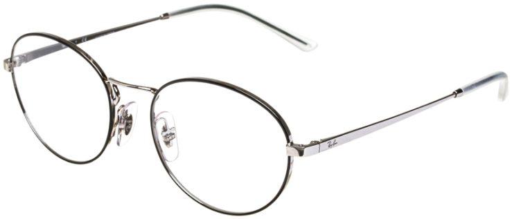 prescription-glasses-model-Ray-Ban-RB6439-Black-Silver-45