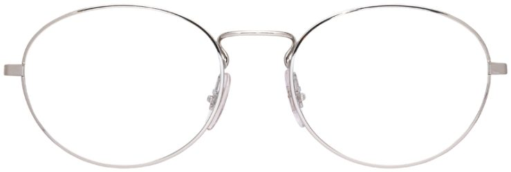prescription-glasses-model-Ray-Ban-RB6439-Black-Silver-FRONT