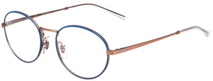 prescription-glasses-model-Ray-Ban-RB6439-Blue-Rose-Gold-45