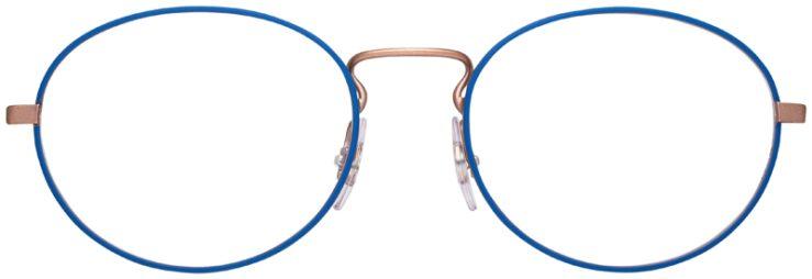 prescription-glasses-model-Ray-Ban-RB6439-Blue-Rose-Gold-FRONT