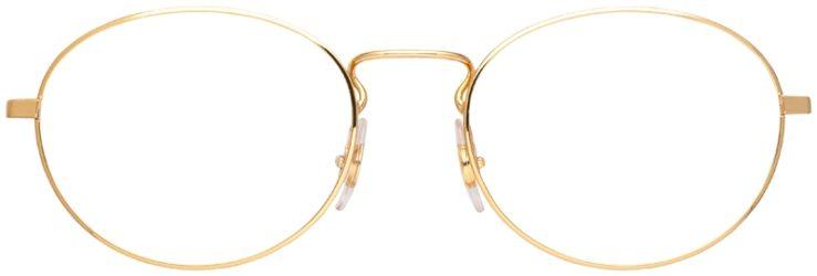 prescription-glasses-model-Ray-Ban-RB6439-Gold-FRONT