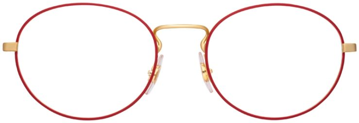 prescription-glasses-model-Ray-Ban-RB6439-Red-Gold-FRONT
