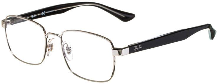 prescription-glasses-model-Ray-Ban-RB6445-Silver-Black-45