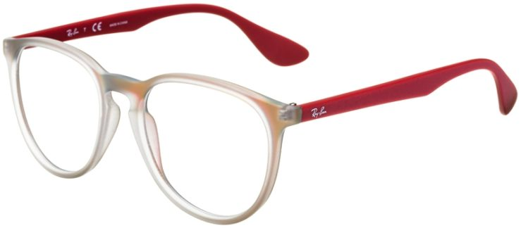 prescription-glasses-model-Ray-Ban-RB7046-Clear-Matte-Red-45