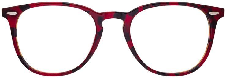 prescription-glasses-model-Ray-Ban-RB7159-Red-Havana-Tortoise-FRONT