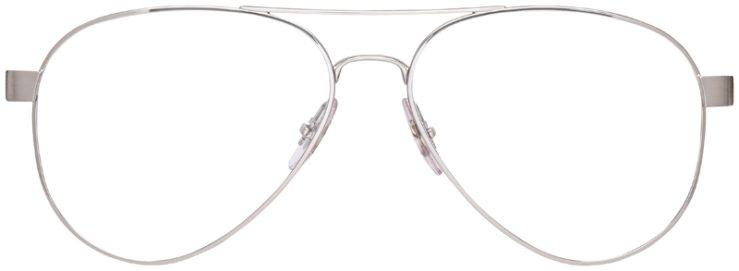 prescription-glasses-model-Ray-Ban-RB8420-Silver-FRONT