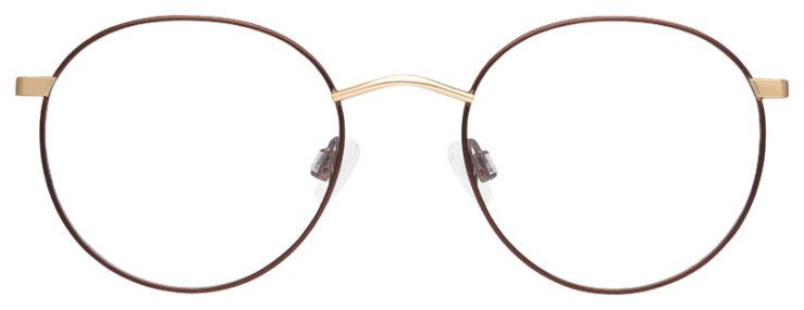 prescription-glasses-model-Calvin-Klein-CK19146F-Brown-Gold-FRONT
