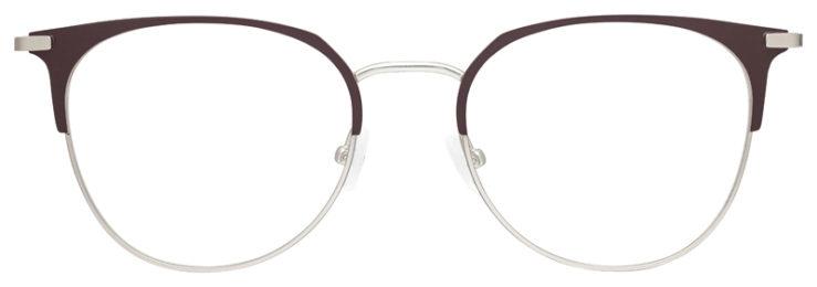 prescription-glasses-model-Calvin-Klein-CK20302-Matte-Brown-Silver-FRONT