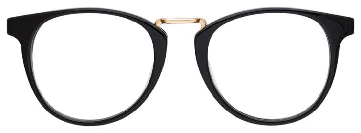 prescription-glasses-model-Calvin-Klein-Ck18721-Black-Gold-FRONT