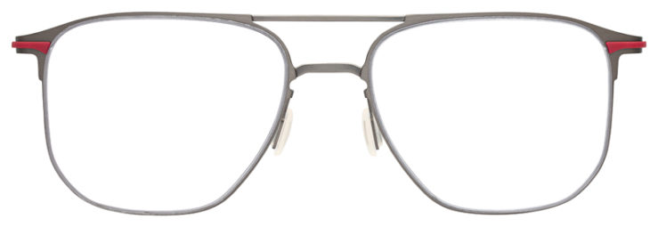 prescription-glasses-model-Flexon-B2004-Gunmetal-Red-FRONT