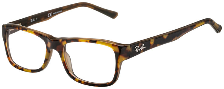 prescription-glasses-model-Ray-Ban-RB5268-Yellow-Tortoise-45