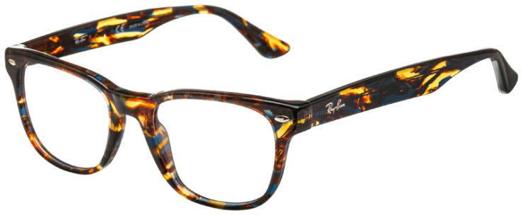 prescription-glasses-model-Ray-Ban-RB5359-Blue-Havana-45