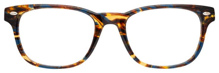 prescription-glasses-model-Ray-Ban-RB5359-Blue-Havana-FRONT