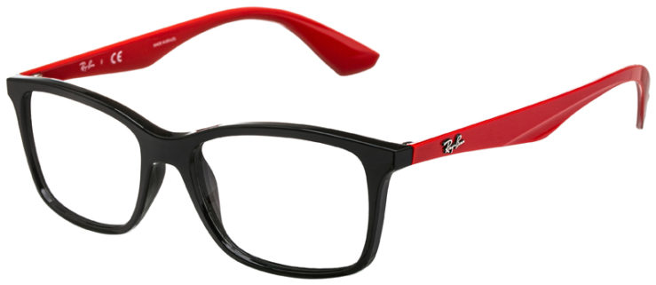 prescription-glasses-model-Ray-Ban-RB7047-Black-Red-45