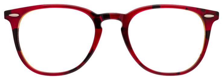 prescription-glasses-model-Ray-Ban-RB7159-Red-Havana-FRONT