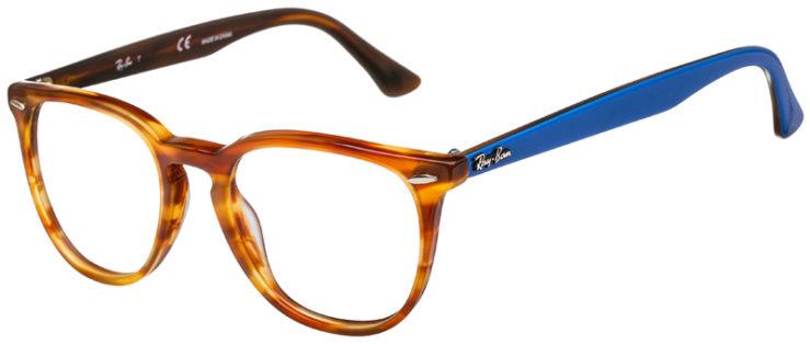 prescription-glasses-model-Ray-Ban-RB7159-Stripe-Havana-Blue-45
