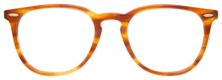 prescription-glasses-model-Ray-Ban-RB7159-Stripe-Havana-Blue-FRONT