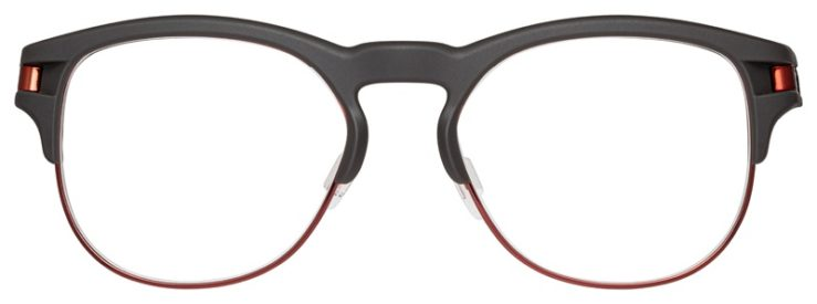 prescription-glasses-model-Oakley-Latch-Key-RX-Gunmetal-Red-FRONT