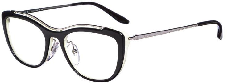 prescription-glasses-model-Prada-OPR-O4VV-Black-White-45
