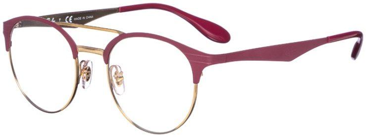 prescription-glasses-model-Ray-Ban-RB3545V-Matte-Pink-Gold-45