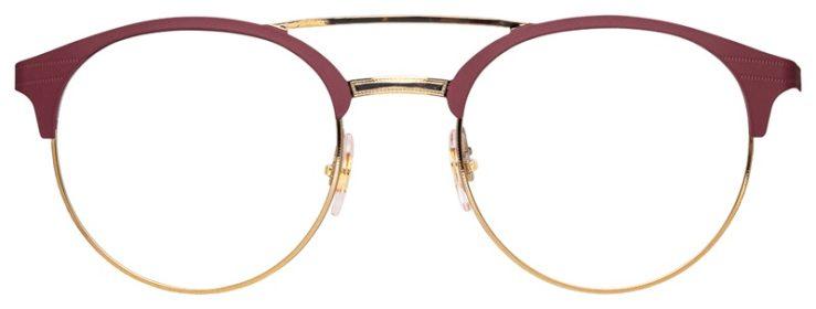 prescription-glasses-model-Ray-Ban-RB3545V-Matte-Pink-Gold-FRONT