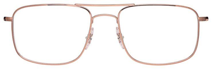 prescription-glasses-model-Ray-Ban-RB6434-Rose-Gold-FRONT