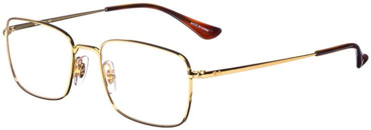 prescription-glasses-model-Ray-Ban-RB6437-Gold-45