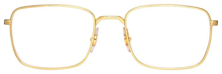 prescription-glasses-model-Ray-Ban-RB6437-Gold-FRONT