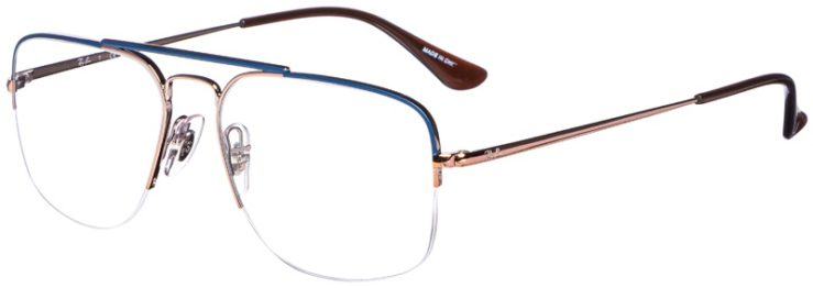 prescription-glasses-model-Ray-Ban-RB6441-Bronze-Blue-45
