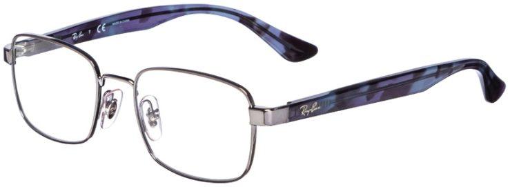 prescription-glasses-model-Ray-Ban-RB6445-Silver-Blue-Tortoise-45