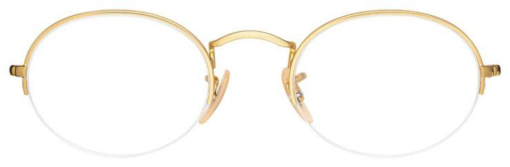 prescription-glasses-model-Ray-Ban-RB6547-Gold-FRONT