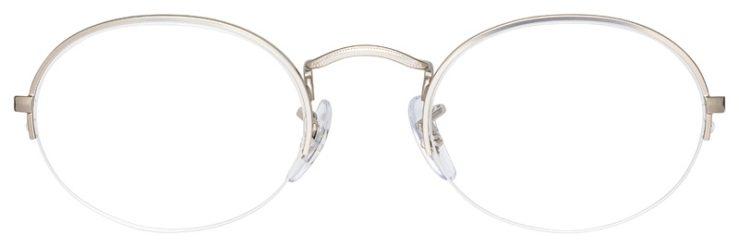 prescription-glasses-model-Ray-Ban-RB6547-Silver-FRONT