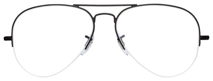 prescription-glasses-model-Ray-Ban-RB6589-Matte-Black-FRONT